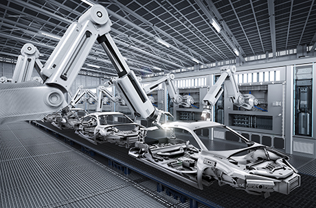 Photo of automotive production process